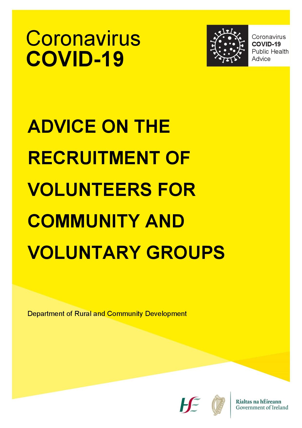 ADVICE ON THE RECRUITMENT OF VOLUNTEERS FOR COMMUNITY AND VOLUNTARY GROUPS-page-001