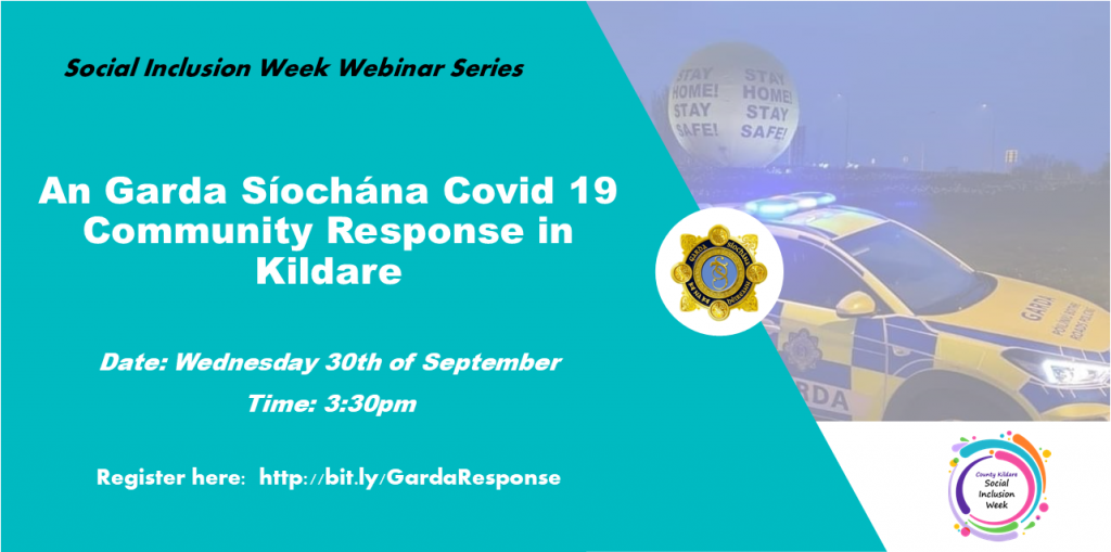 An Garda Síochána Covid 19 Community Response in Kildare    Date: Wednesday 30th of September  Time: 3:30pm  Register here:  http://bit.ly/GardaResponse